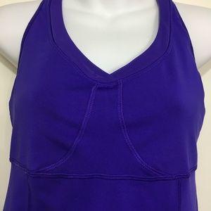 Athleta Tops - Athleta 36 B Purple Bra Top Support Pullover Top
